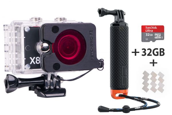 ActionPro X8 Taucher EDITION Special 4K ActionCam 32GB